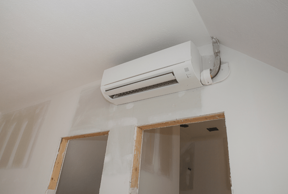 Ductless Air Conditioner in New Construction Project